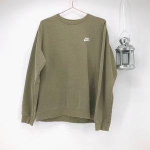 Men's Nike Olive Green Crew Neck Sweatshirt